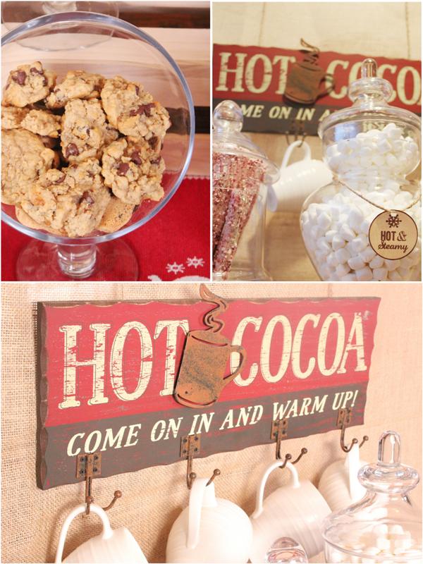 DIY Hot Cocoa Bar for the Holidays - via BirdsParty.com