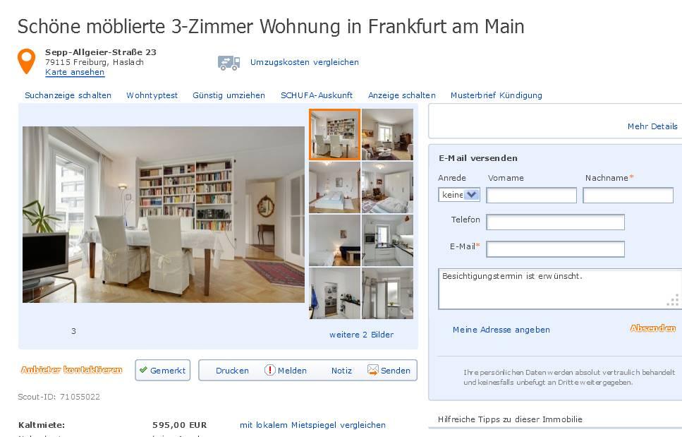 wohnungsbetrugblogspotcom Schne mblierte 3Zimmer Wohnung in Freiburg SeppAllgeierStrae