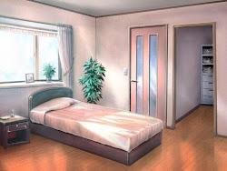 Anime Landscape: Bedroom Anime Background