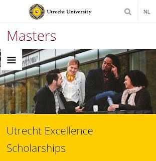Beasiswa Full + Biaya Hidup di Utrecht University Untuk Mahasiswa