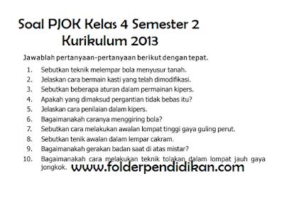 Download Soal PJOK Kelas 4