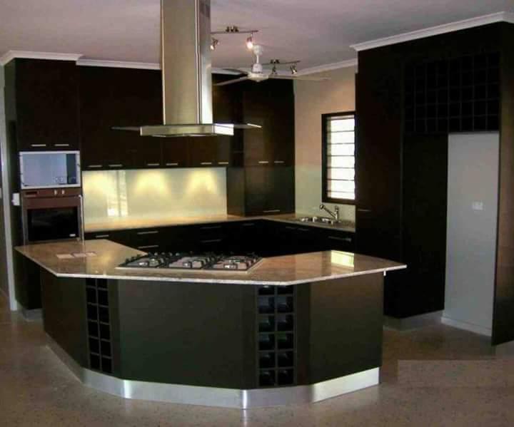 7 Contoh Dapur minimalis lega modernTerbaru