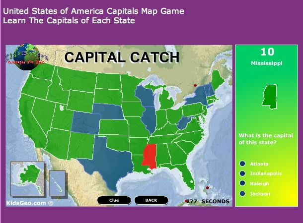 Us States And Capitals Online Games « Best Real Money Online