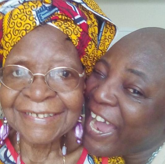 Charly Boy cuddles his mum, says she's 95 years old