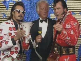 WWF / WWE WRESTLEMANIA 4: Honky Tonk Man & Jimmy Hart torment Bob Uecker