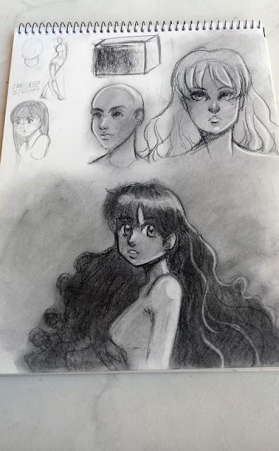 dibujos con carboncillo
