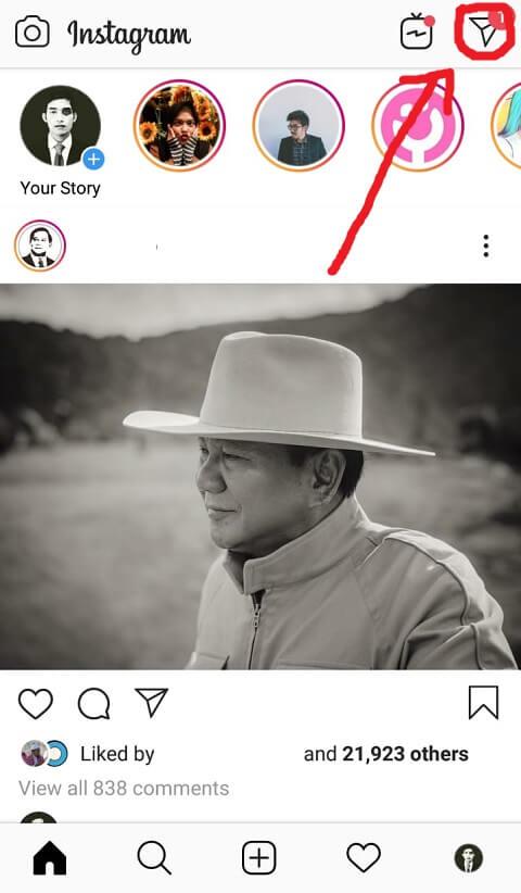 Buka Laman Chat Instagram