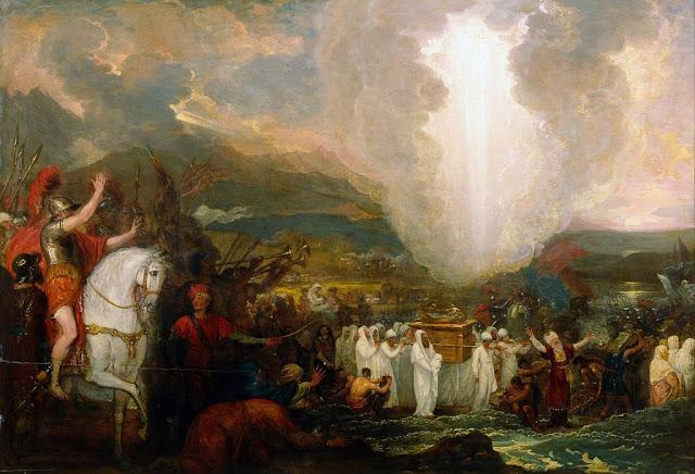Josué pasa el Río Jordán