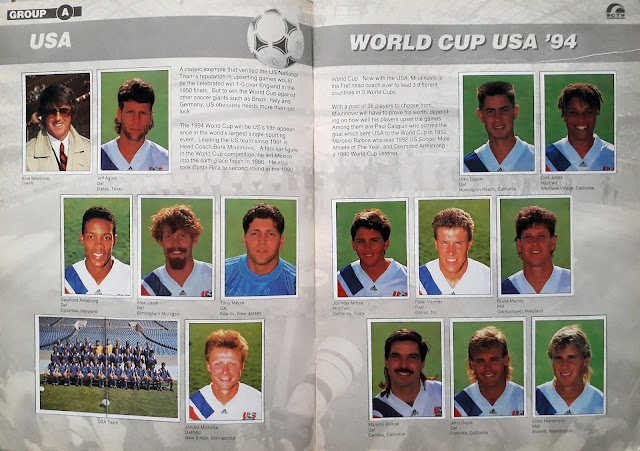 WORLD CUP USA '94 STICKER ALBUM COLLECTION GROUP A USA