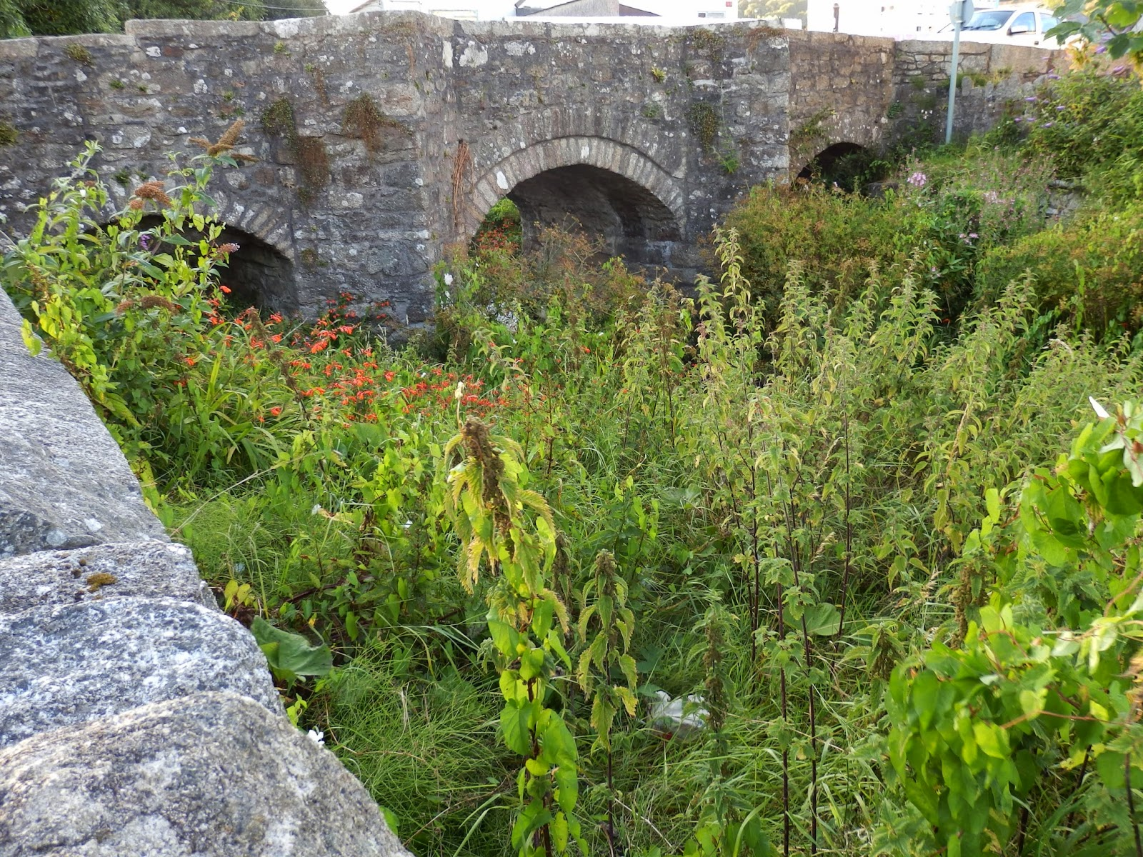 St.Austell bridge over River Vinnick, Cornwall