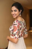 Ritu Varma smiling face Cream Anarkali dress at launch of OPPO New Selfie Camera F3 ~  Exclusive 076.JPG