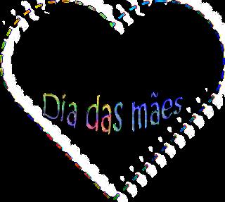 Coração para o dia das mães - Criação Blog PNG-Free
