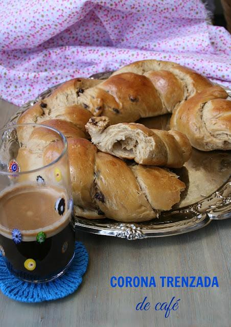 Corona de pan dulce,pan de café