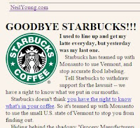 Neil Youngs Starbucks Protest