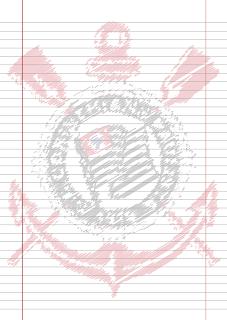 Papel Pautado do Corinthians para imprimir em PDF - A4