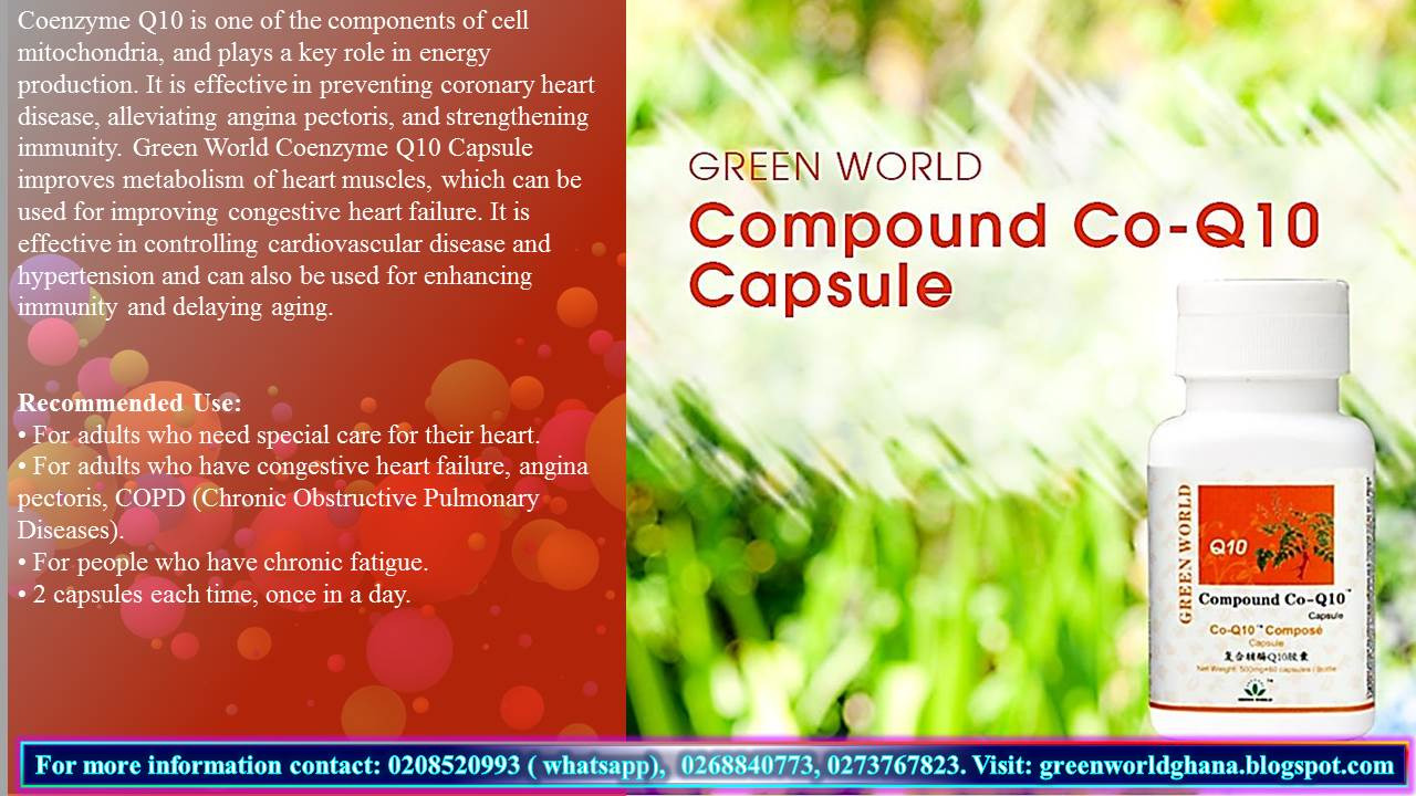 Green World Products Ghana Compound Co Q10