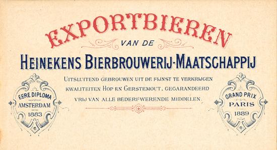 Heineken ad 1890s