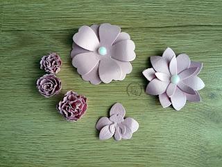 Kwiatki z wykrojników