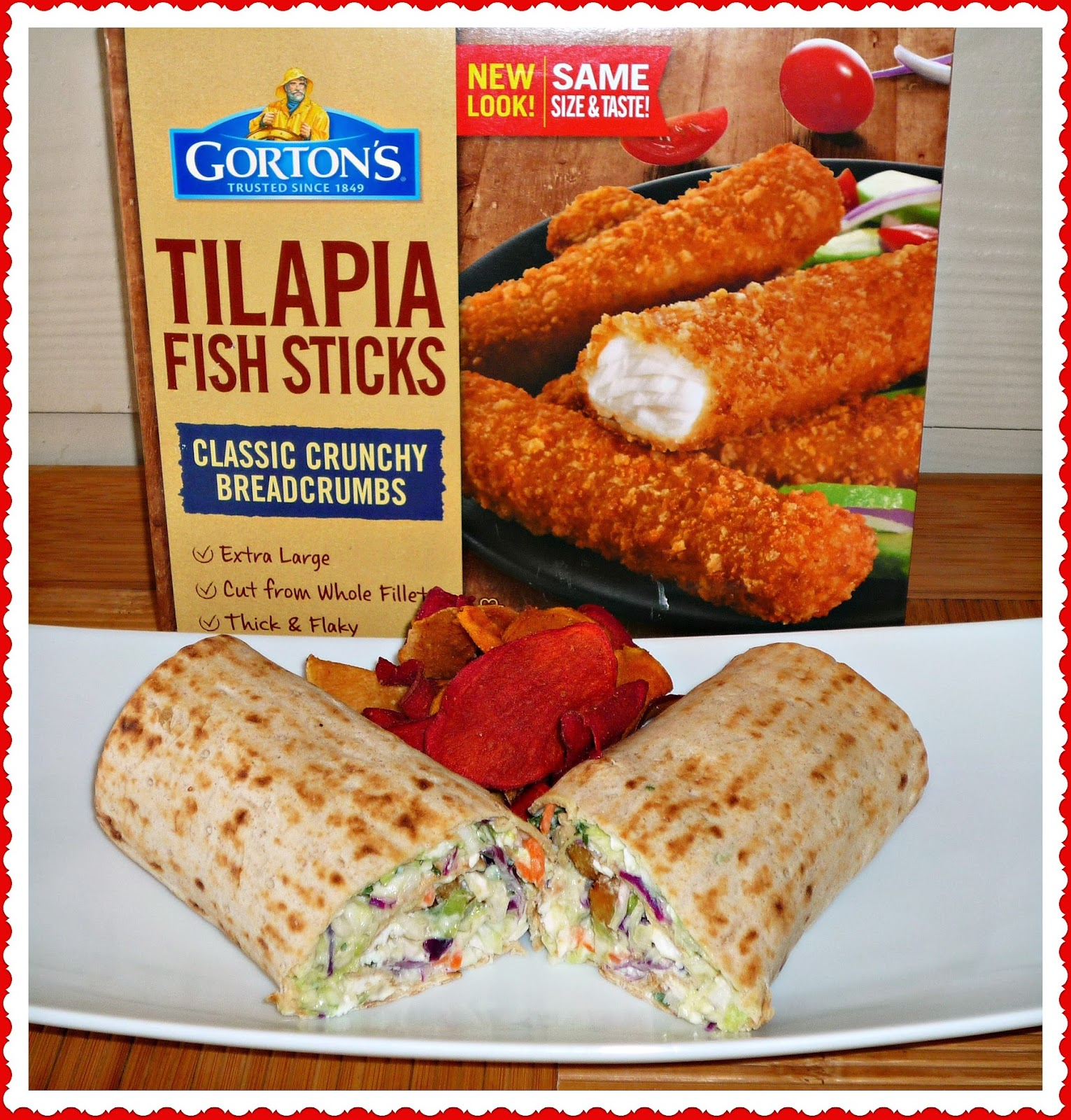 The weekend gourmet tilapia wrap sandwiches with feta for Tilapia fish sticks