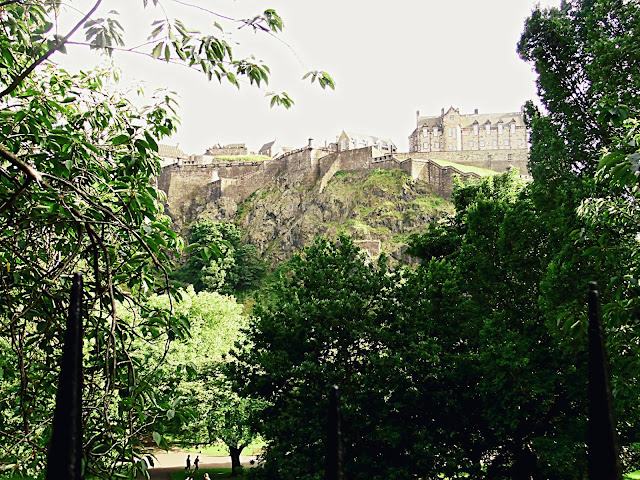 Edinburgh castle through trees