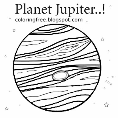 Instructive education kids space representation straightforward picture planet Jupiter coloring page