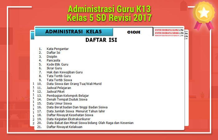 Administrasi Guru K13
