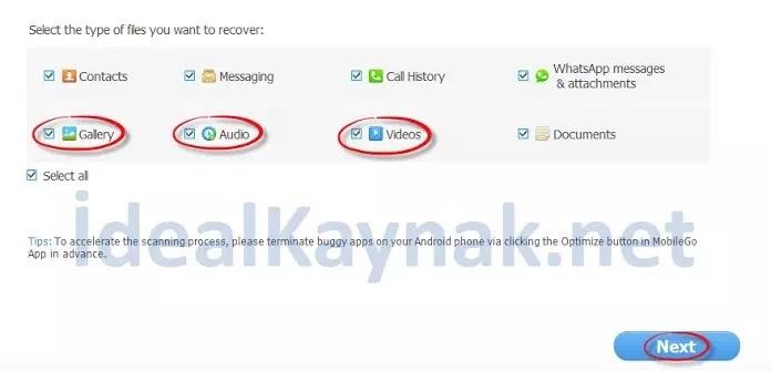 Android Telefonlarda Silinen Dosyaları Kurtarma