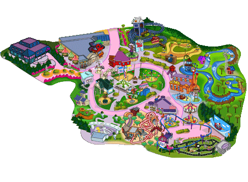 Mapa Cartoon Village