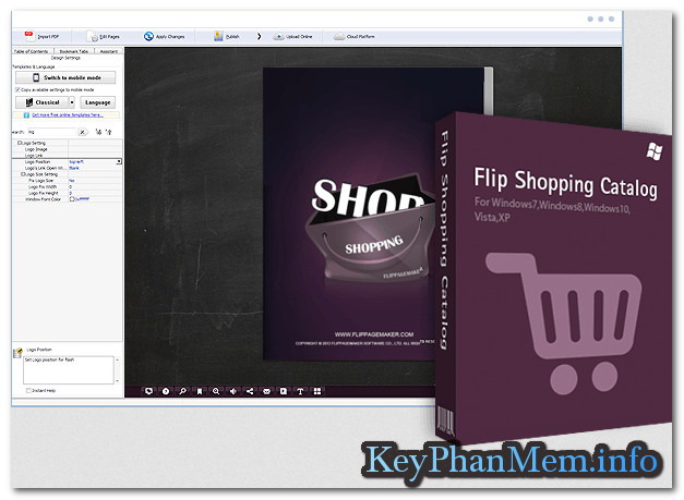 Download Flip Shopping Catalog 2.4.9.20 Full Key, Phần mềm giúp bán hàng thương mại điện tử