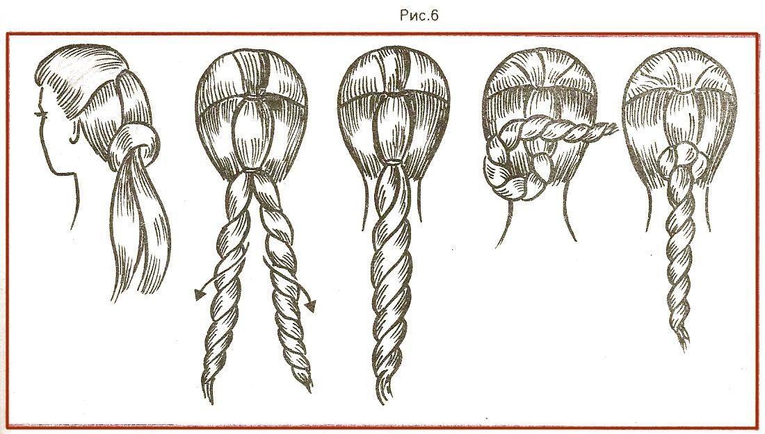 картинки пошаговое плетение из волос текну сериале