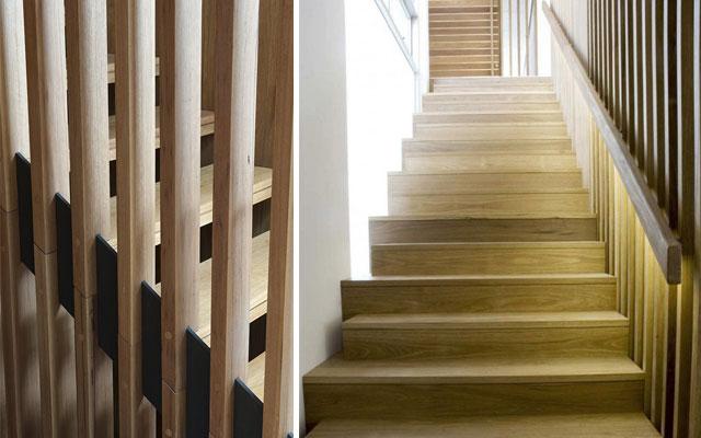 Marzua pasamanos modernos para escaleras de dise o for Escaleras de madera sencillas