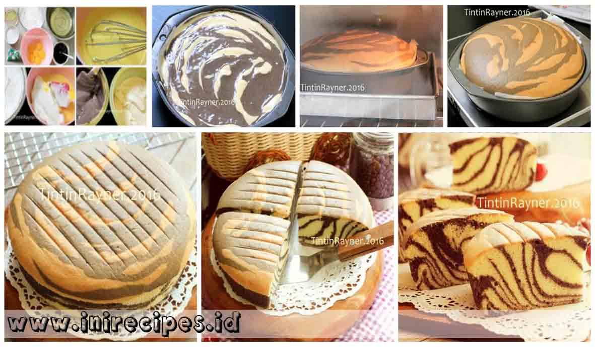 Ogura Cake Zebra Dengan Susu Kelapa
