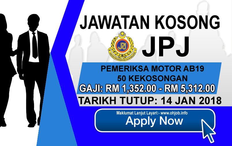 Jawatan Kerja Kosong Jabatan Pengangkutan Jalan Malaysia - JPJ logo www.ohjob.info januari 2018