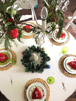 Christmas tree napkin folding tutorial, Christmas tablescape