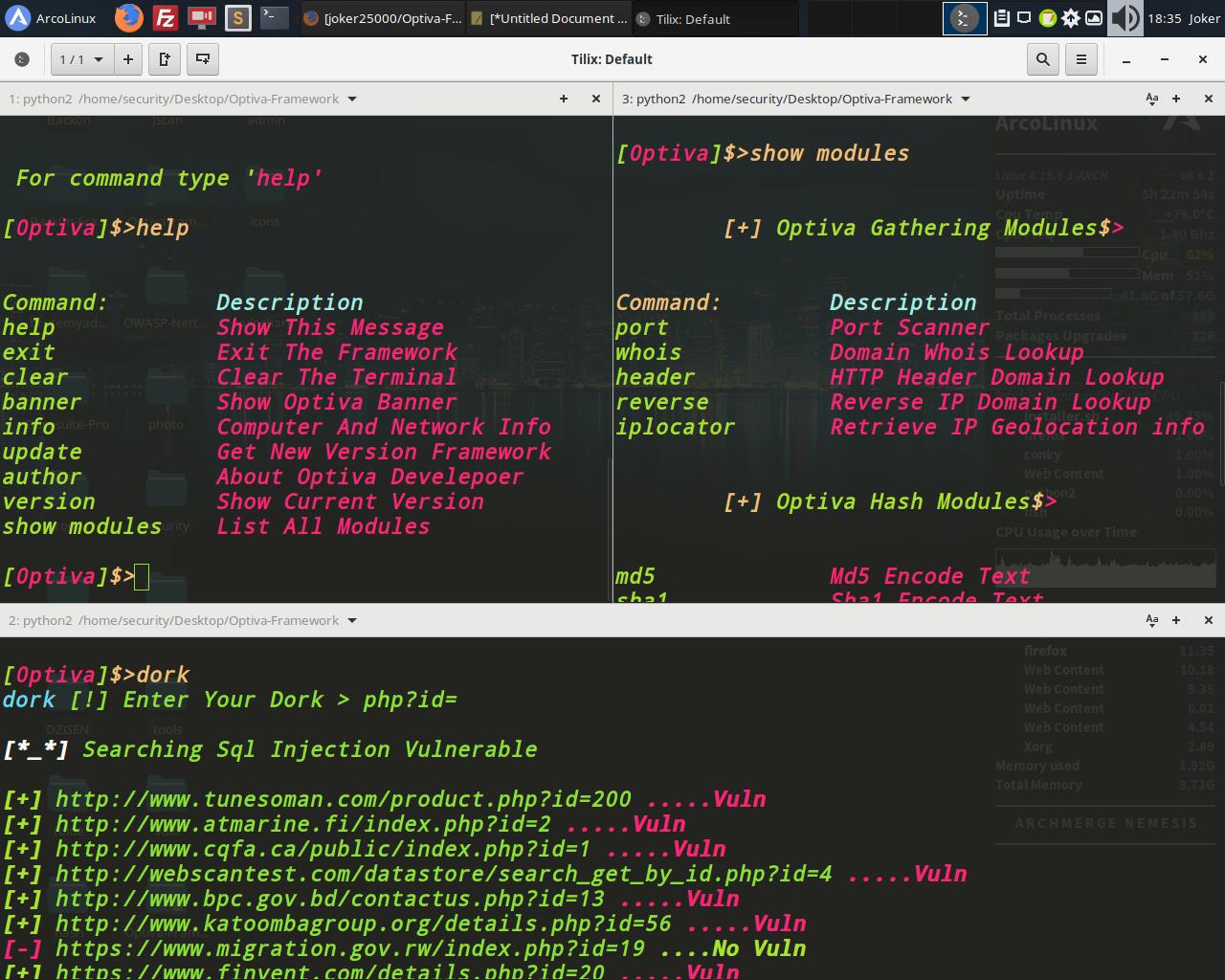 Optiva Framework - Scanner de Aplicativo da Web - FULL CRYPTERS