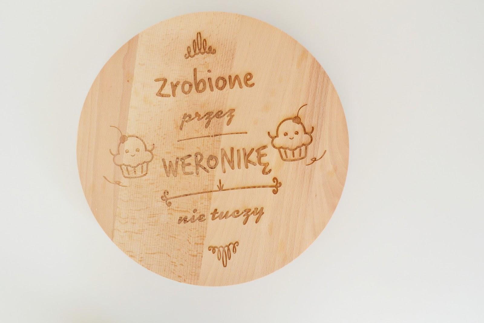 deska drewniana z grawerem