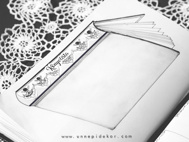 Bullet Journal csipke matrica sablon
