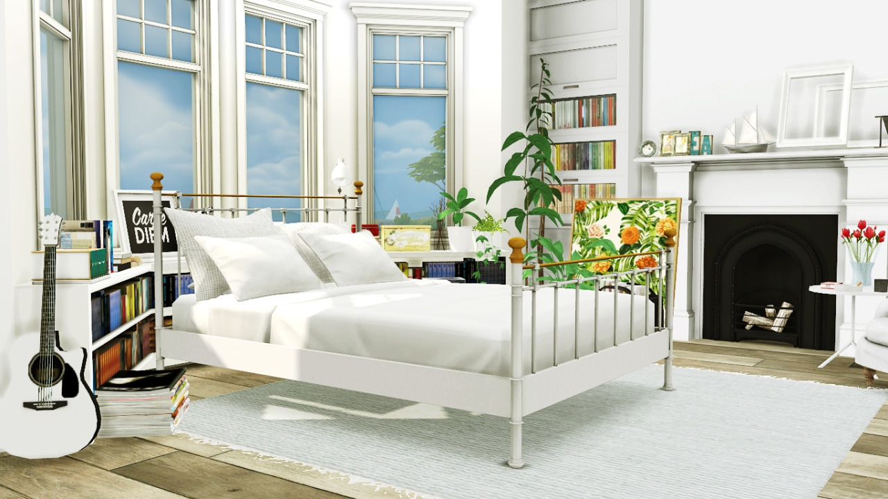 My sims 4 blog bed and plants conversion by mxims for Bedroom designs sims 4