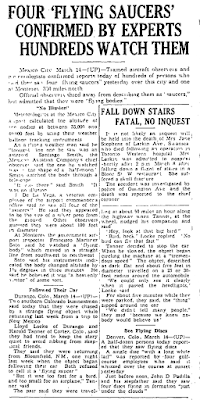 Flying Saucers Confirmed By Experts - Toronto Star 3-14-1950