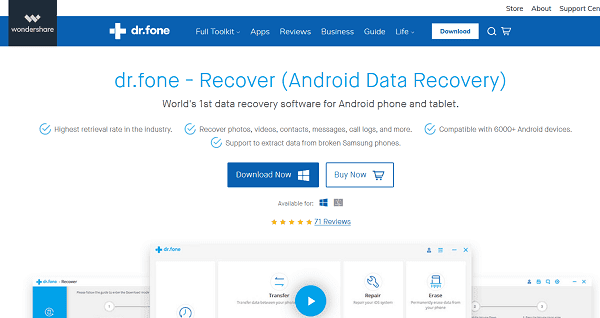 dr.fone Android Data Recovery