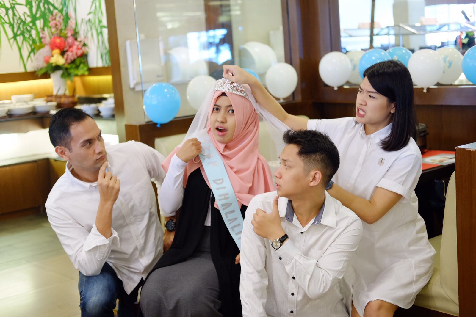 kejutan dari qbd team manis aneeetttt kayan tropicana slim dokumentasi peachy party organizer