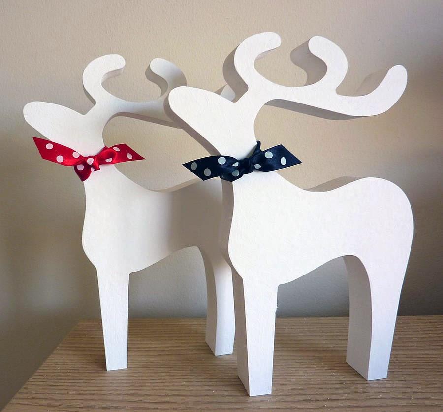 Decoracion de navidad con renos parte 2 for Trineo madera decoracion