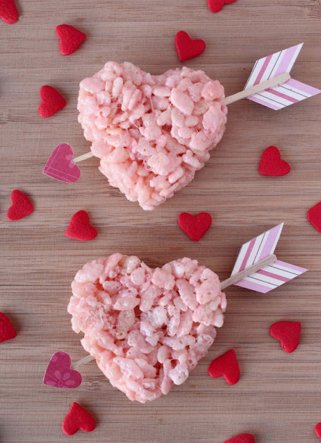 creatively christy: Valentines Cupid Krispie Treats