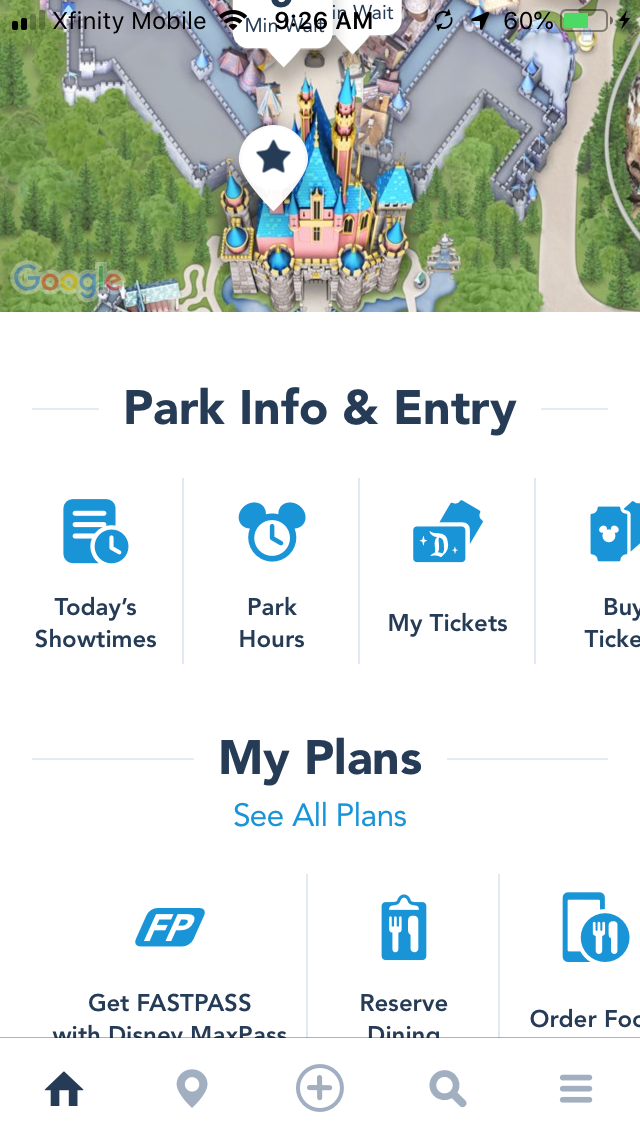 Disneyland Map App on