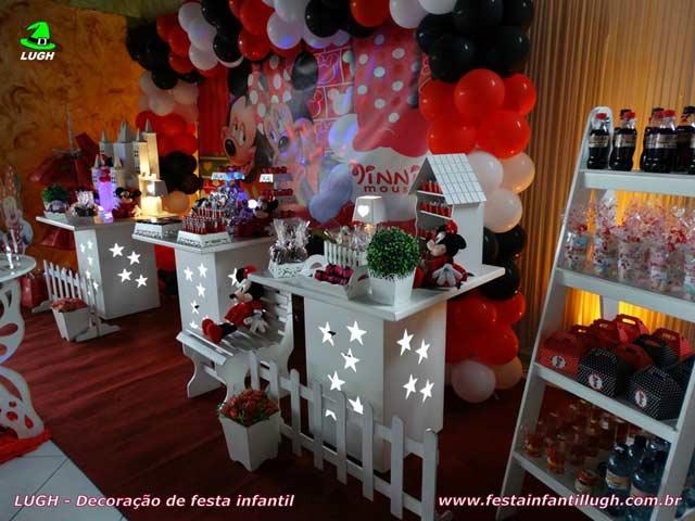 Decoração festa de aniversário infantil tema da Minnie - Festa feminina