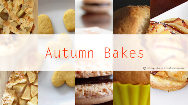 Autumn / Fall Baking Season Dessert Apple Pie Cookies Muffins Macaron Recipes