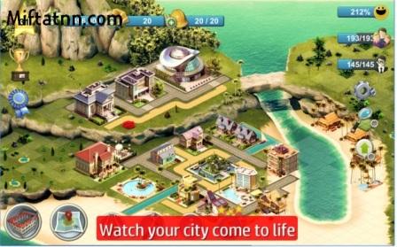 Game Simulasi Membangun Kota Android City Island 4 MOD APK