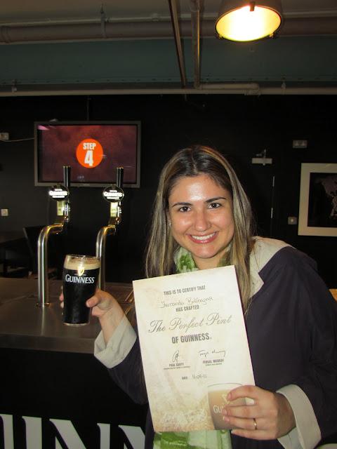 Curso e certificado The Perfect Pint - como servir um pint perfeito.