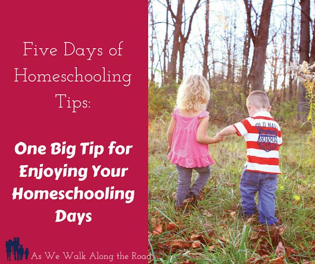 Enjoying your homeschool days