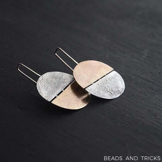Orecchini in ottone e argento di recupero